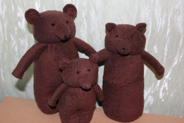 Куклы для сказки Три медведя из флиса шаг 6