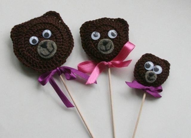 Куклы для сказки Три медведя вязанные шаг 9