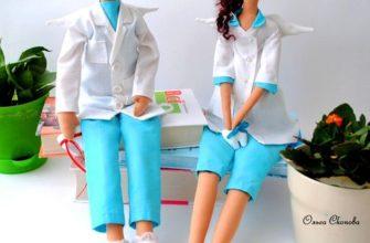 кукла тильда врач