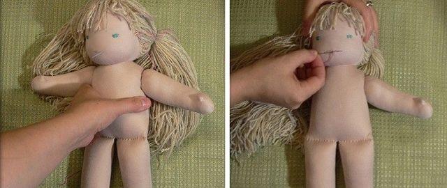 Мастер-класс вальдорфской куклы шаг 11