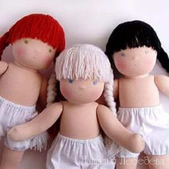 Три куклы без одежды