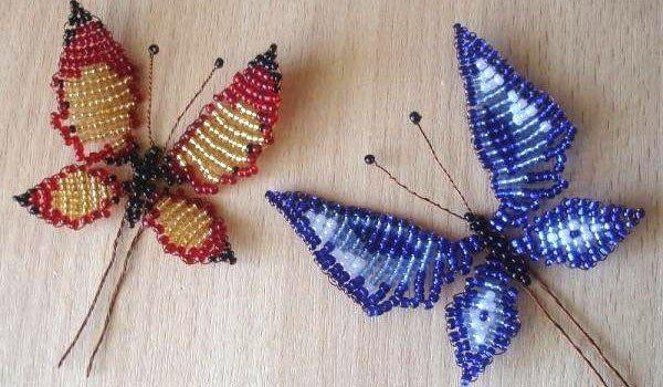 Две бабочки на столе