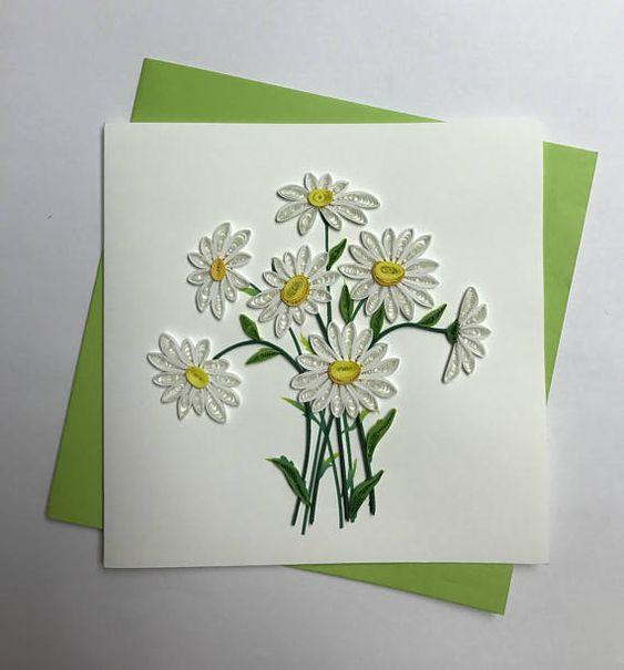 Картинки прикольные, открытка из бумаги ромашки