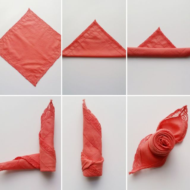 Схема создания цветка из бумаги