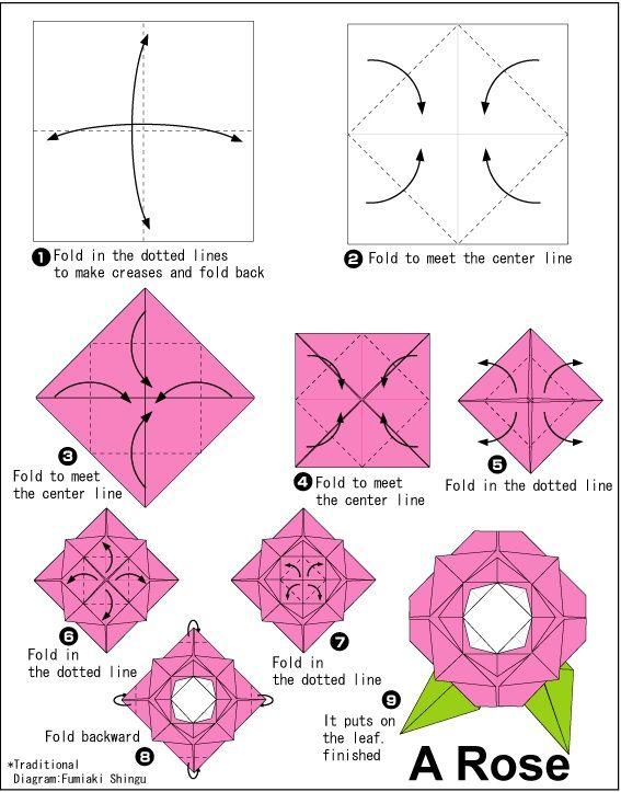 Пошаговая схема создания цветочка