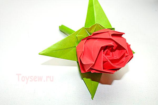 роза оригами