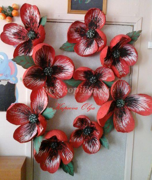 Цветы на двери