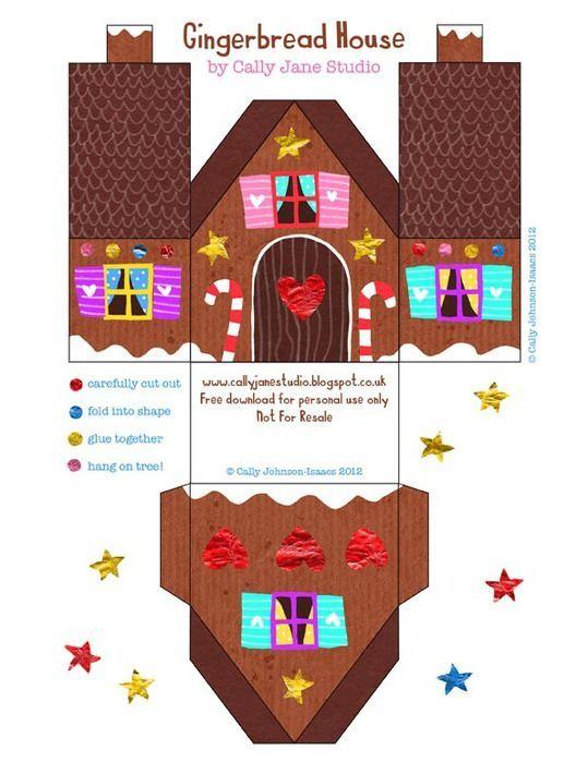 Поделка домик Деда Мороза