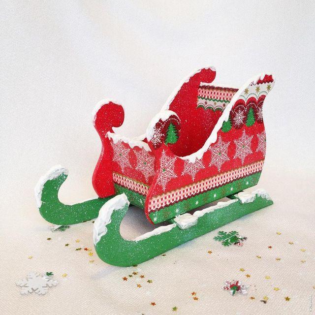 Сани Деда Мороза своими руками: 10 идей для поделки
