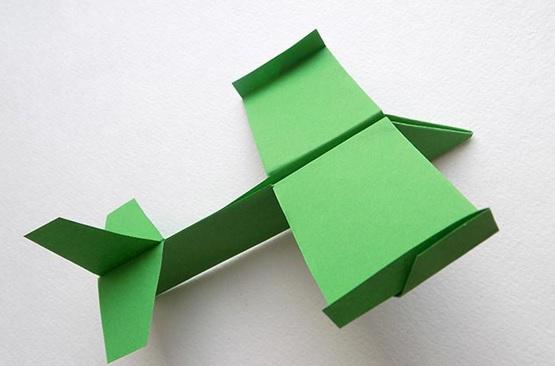 самолет-планер из бумаги