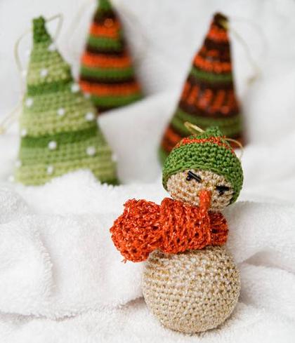 снеговик с шарфиком