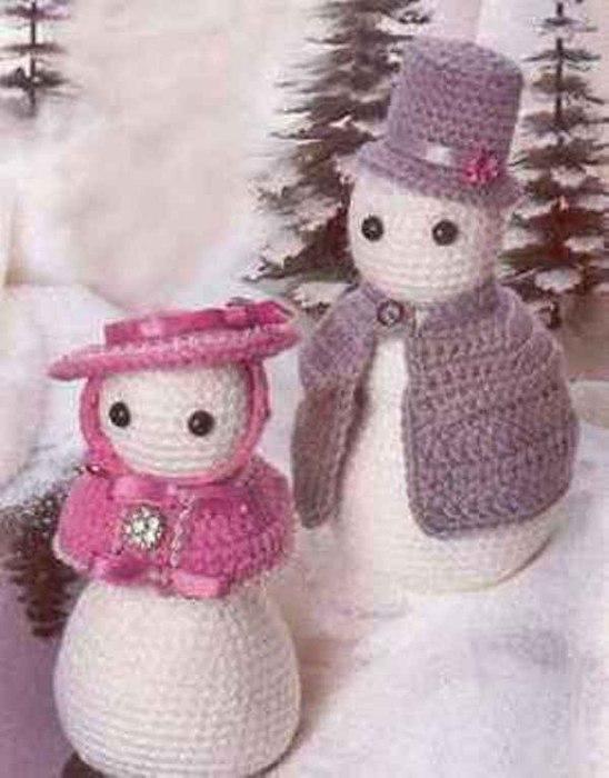 снеговики с пелеринами