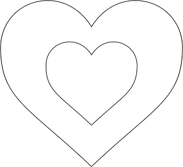 выкройка сердце