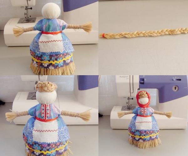 украшение куклы оберега