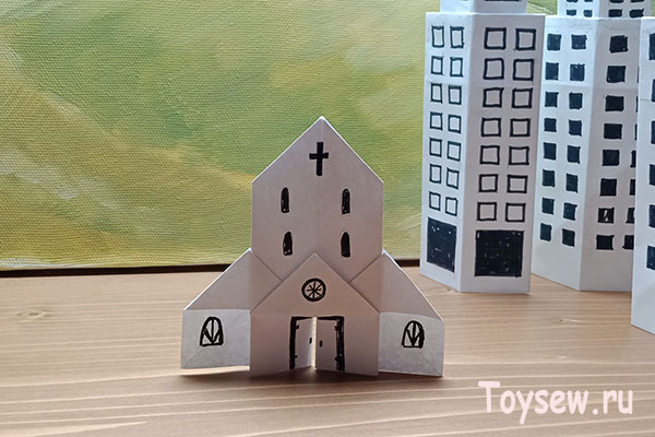 церковь из бумаги