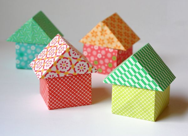 домик простой из бумаги
