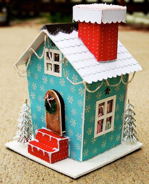 красивый домик из картона