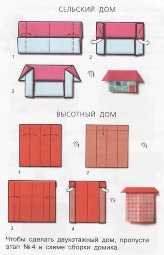 домики оригами схемы