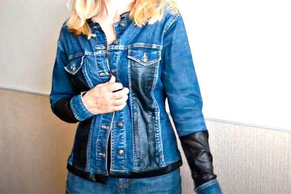 декор джинсовки тканью