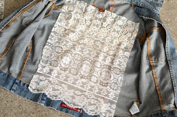 декор спинки джинсовки