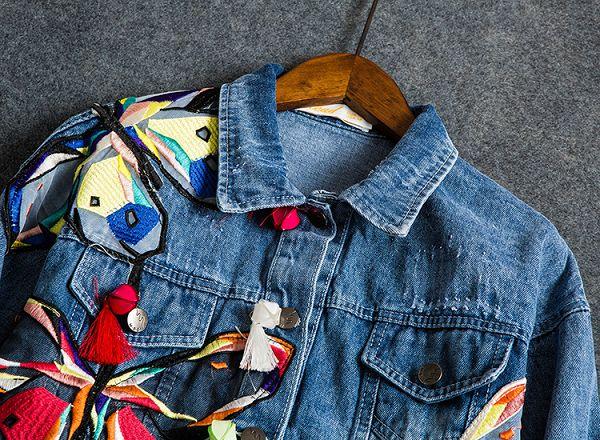 джинсовка с аппликацией