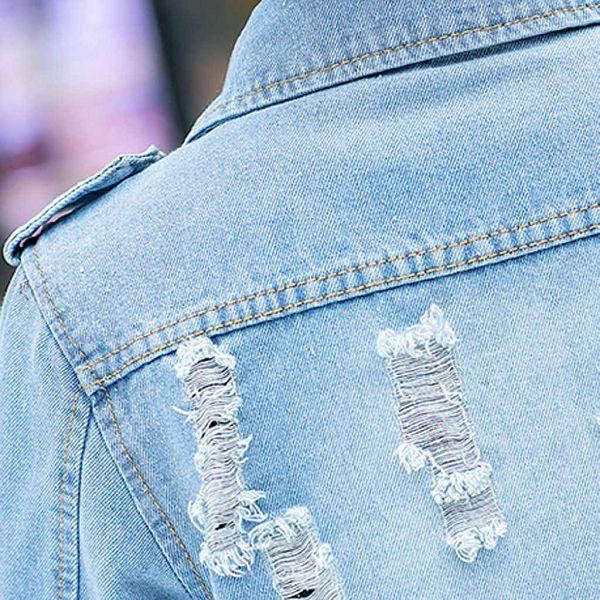 дырки на джинсовке
